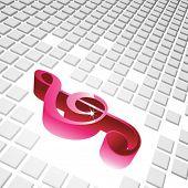 Clave de violín 3D con fondo de cubos