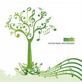 pic of musical symbol  - Abstract colorful music tree  - JPG