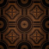 Vector ceiling tile seamless vintage decorative black