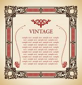 Medieval vintage decor ornament frame illustration