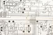 vintage electronic schematic diagram