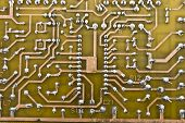 Old electronic circuit plate background
