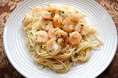 Delicious Shrimp Scampi on Spaghetti