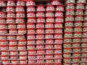 Pilhas de presentes para o ano novo chinês