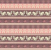 Seamless Knitted Pattern With Squirrel