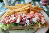 Fresh and delicious lobster roll