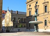 foto of munich residence  - The scenery at the Residenz and Odeonsplatz in Munich - JPG