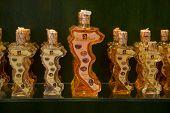 Kumquat liqueur bottles, Corfu
