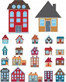 house icons set, vector