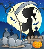 Grim reaper theme image 2 - vector illustration.