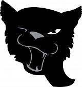 cartoon image of black cat isolated on white