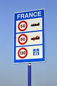 Speed limits in France