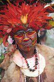 GOROKA, PAPUA, NEW GUINEA - SEPTEMBER 16:  aboriginal at Goroka Tribal Festival. Papua New Guinea on September 16, 2011