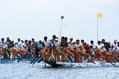 Rowing Competition On Inle Lake