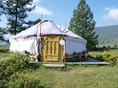 Traditional Altai yurt