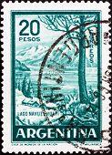 Postage stamp Argentina 1960 Nahuel Huapi Lake