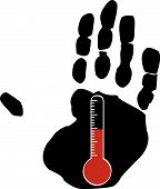 Hand With Temperature.