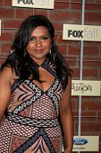LOS ANGELES - SEP 10:  Mindy Kaling arrives at the FOX Eco-Casino Party 2012 at Bookbindery on Septe