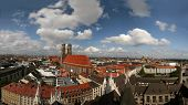 Skyline Of Munich With Church Liebfrauenkirche, Germany
