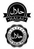 Halal products seal / icon