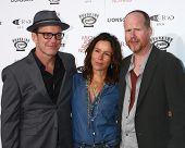 LOS ANGELES - JUN 5:  Clark Gregg, Jennifer Grey, Joss Whedon arrives at the