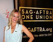LOS ANGELES - JUN 4:  Sharon Case arrives at SAG-AFTRA Panel Discussion With The Cast Of