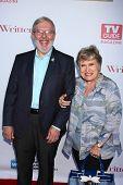 LOS ANGELES - JUN 2:  Leonard Maltin arrives at the WGA's 101 Best Written Series Announcement at th