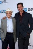 LOS ANGELES - JUN 2:  Norman Lear, Steven Levitan arrives at the WGA's 101 Best Written Series Annou