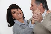 stock photo of waltzing  - Married couple dancing - JPG