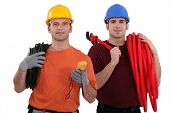 stock photo of  multimeter  - Electrician and plumber - JPG