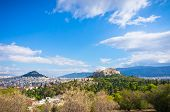 picture of akropolis  - Beautiful view of Athens city, capital of Greece