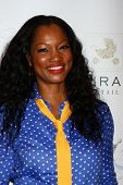 LOS ANGELES - JUN 9:  Garcelle Beauvais arrives at the 2013 Plush Show at the Hyatt Regency Century