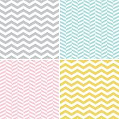 Set of seamless zigzag (chevron) pattern