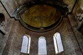 Ancient Cross On Ceiling Of Santa Irine Church