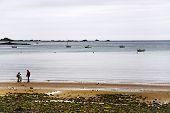 La Manche Coastline Near Perros-guirec, Brittany
