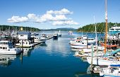 Ferry arrives at Friday Harbor on San Juan Island