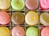 Top View Of Macaron In Box