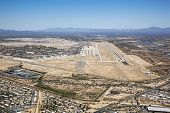 Tucson, Arizona Aerial With Runway And Boneyard