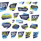 foto of tv sets  - Set of modern designed badges and labels for sale - JPG