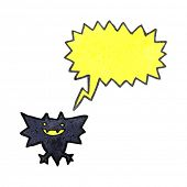 retro cartoon little halloween bat