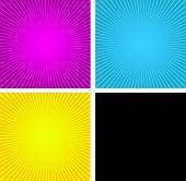 caixas de espiral de CMYK