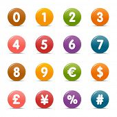 Colored Dots - Numbers & Currency icons