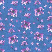 Lilac Seamless Blue