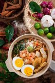 stock photo of malaysian food  - Prawn noodles - JPG