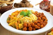 Biryani rice or briyani rice, fresh cooked with steam, delicious indian food.