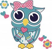 cute owl applique for baby girl