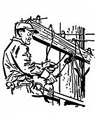 Wichita Lineman - Retro Clip Art Illustration