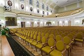 MOSCOW - OCT 4: Hall of the Moscow Tchaikovsky Conservatory (view from the scene) on October 4, 2012
