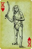 stock photo of boomerang  - Playing card with the drawn figure - JPG