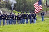 Line Of Union Troops- Civil War